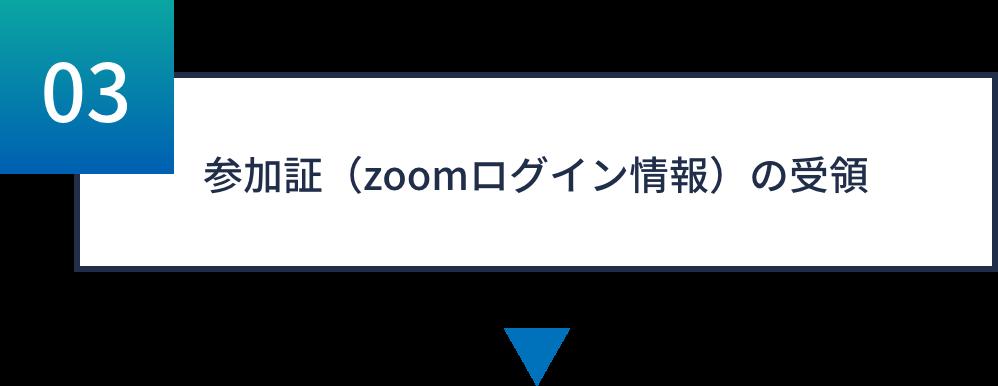 参加証(zoomログイン情報)の受領